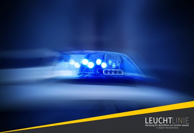 Blaulicht eines Polizeiautos in Betrieb